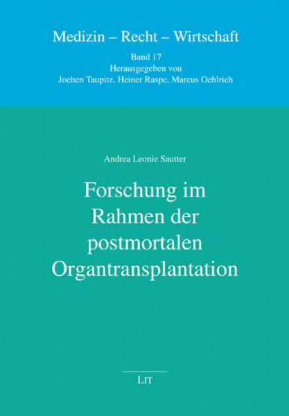 Forschung im Rahmen der postmortalen Organtransplantation