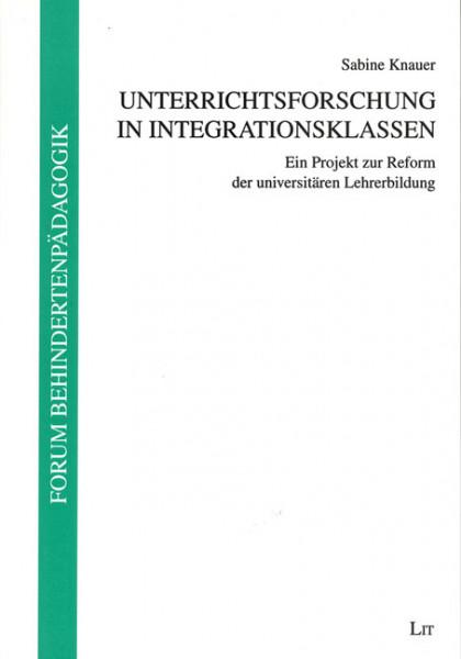 Unterrichtsforschung in Integrationsklassen
