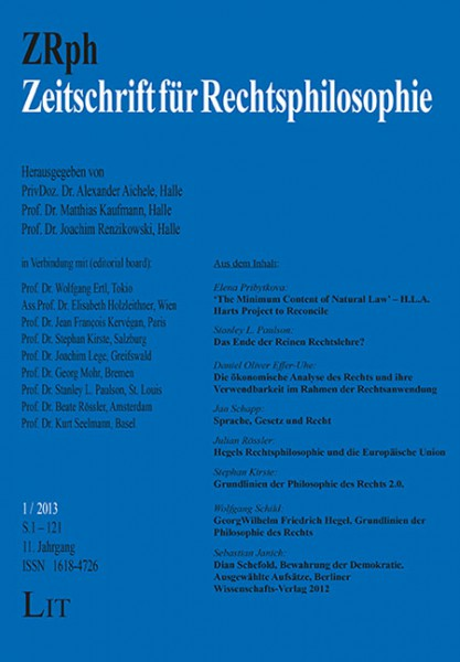 Zeitschrift für Rechtsphilosophie 1/2013
