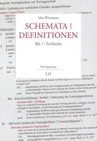 Schemata und Definitionen - Zivilrecht