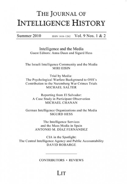 Journal of Intelligence History Vol. 9 No. 1-2 Winter 2010