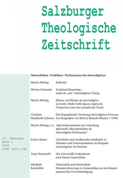 Salzburger Theologische Zeitschrift. 24. Jahrgang, 1. Heft 2020