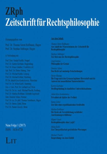 Zeitschrift für Rechtsphilosophie Neue Folge 1/2017