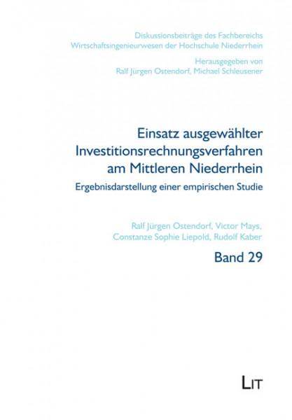 Einsatz ausgewählter Investitionsrechnungsverfahren am Mittleren Niederrhein