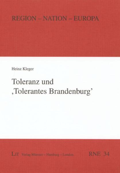 Toleranz und 'Tolerantes Brandenburg'