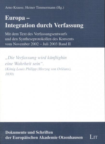 Europa - Integration durch Verfassung