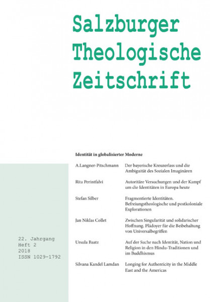Salzburger Theologische Zeitschrift. 22. Jahrgang, 2. Heft 2018