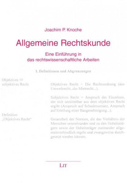 Allgemeine Rechtskunde