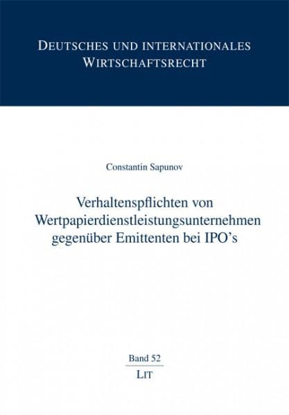 Verhaltenspflichten von Wertpapierdienstleistungsunternehmen gegenüber Emittenten bei IPO's