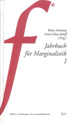 Jahrbuch für Marginalistik I