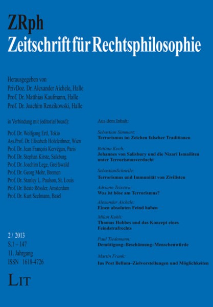 Zeitschrift für Rechtsphilosophie. 2/2013