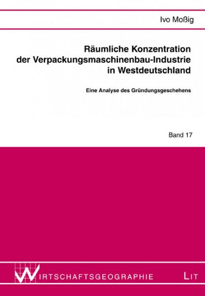 Räumliche Konzentration der Verpackungsmaschinenbau-Industrie in Westdeutschland