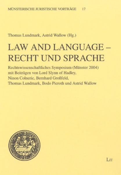 Law and Language - Recht und Sprache