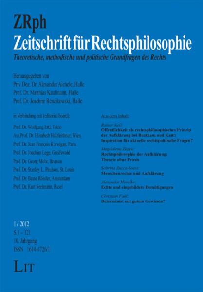 Zeitschrift für Rechtsphilosophie. 1/2012