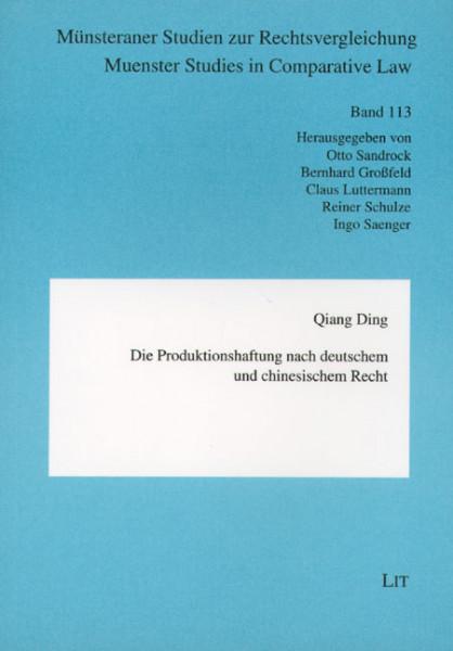 Die Produktionshaftung nach deutschem und chinesischem Recht