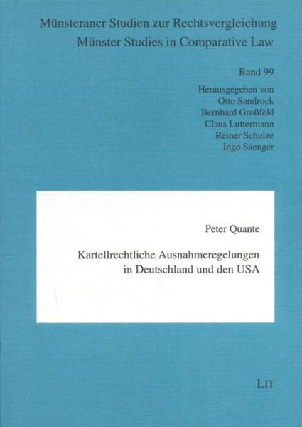 Kartellrechtliche Ausnahmeregelungen in Deutschland und den USA