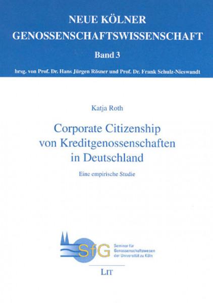 Corporate Citizenship von Kreditgenossenschaften in Deutschland