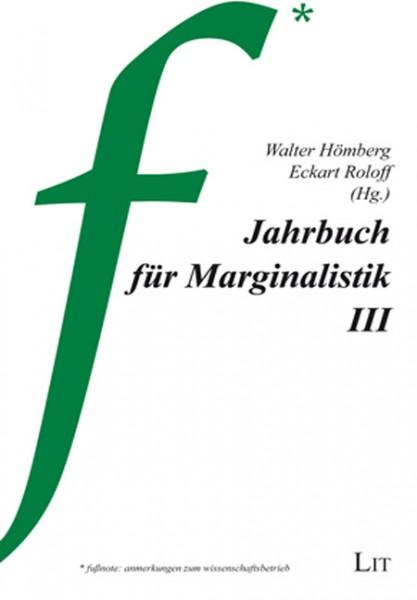 Jahrbuch für Marginalistik III