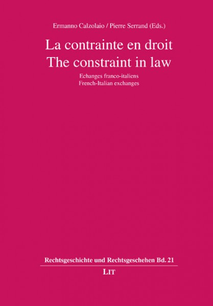 La contrainte en droit. The constraint in law