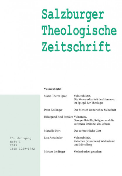 Salzburger Theologische Zeitschrift. 23. Jahrgang, 1. Heft 2019