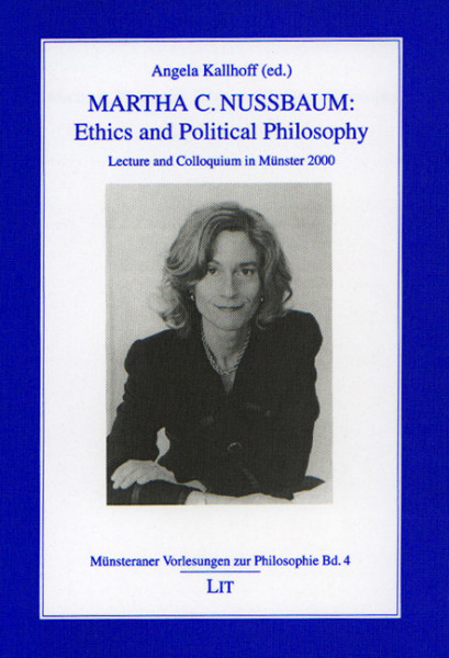 Martha C. Nussbaum Ethics and Political Philosophy